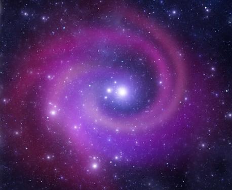 星空「らせん銀河」:スマホ壁紙(6)
