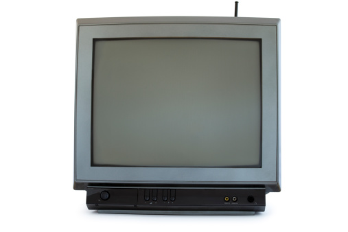 Television Show「Vintage gray Television set isolated on white background」:スマホ壁紙(16)