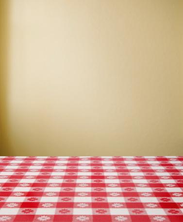 ギンガムチェック「朝食用テーブル」:スマホ壁紙(5)