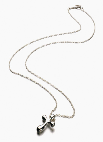 Cross Shape「Silver Cross Necklace cut out on white」:スマホ壁紙(8)
