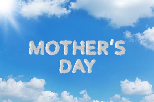 母の日「空雲テキスト メッセージの概念を書く」:スマホ壁紙(7)