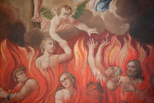 Hell「St Nicolas de Veroce church. Painting depicting hell.」:スマホ壁紙(11)