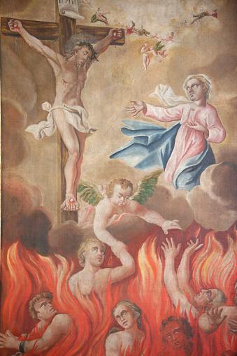 Hell「St Nicolas de Veroce church. Painting depicting hell.」:スマホ壁紙(17)