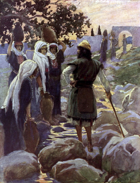 Old Testament「Saul questions the young maidens by J James Tissot」:写真・画像(14)[壁紙.com]
