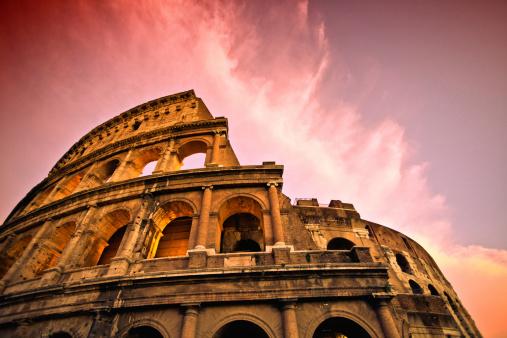 Ancient Civilization「Rome Coliseum at Sunset」:スマホ壁紙(5)