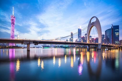 Guangdong Province「Dramatic urban night」:スマホ壁紙(10)