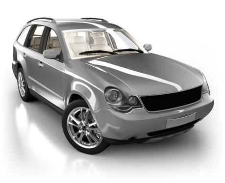 ハイブリッドカー「SUV 車のスタジオで白で分離」:スマホ壁紙(15)
