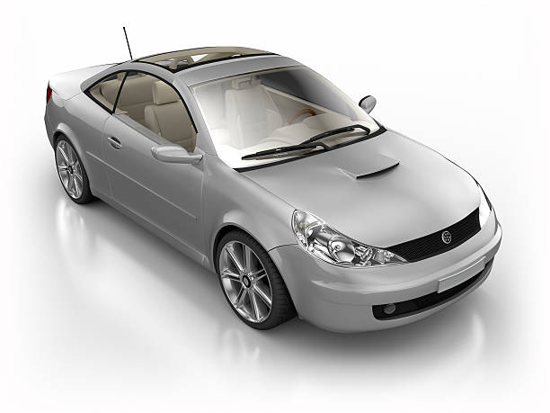 Car in studio - isolated on white with clipping path:スマホ壁紙(壁紙.com)