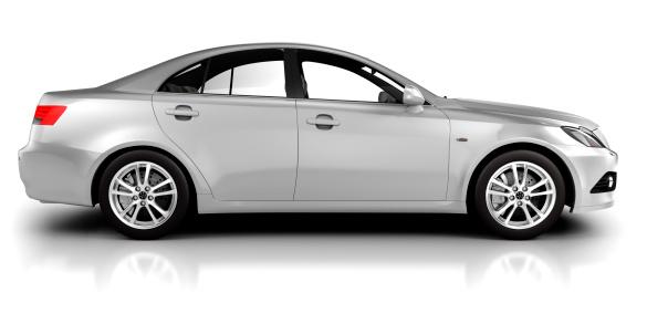 電気自動車「車でのスタジオの側面図の-白で分離」:スマホ壁紙(7)
