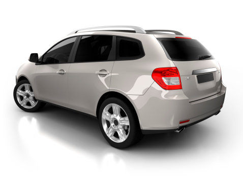 Rear View「SUV Car in studio - isolated with clipping path」:スマホ壁紙(12)
