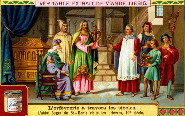Chromolithograph「History of Goldsmithery: Suger de Saint-Denis」:写真・画像(6)[壁紙.com]
