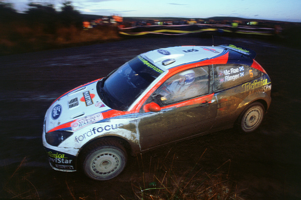 Rally Car Racing「Colin McRae in Ford Focus RS WRC Network Q rally2002」:写真・画像(5)[壁紙.com]