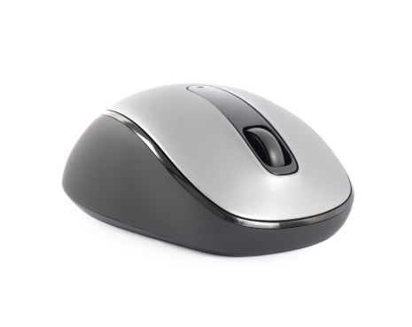 Computer Software「Single new silver computer mouse isolated on white」:スマホ壁紙(15)