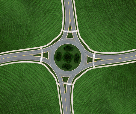 Road Marking「Roundabout Symmetry」:スマホ壁紙(18)