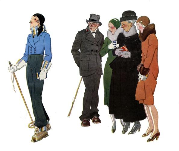 Skiing「Ski resort fashions - 1930s.」:写真・画像(11)[壁紙.com]