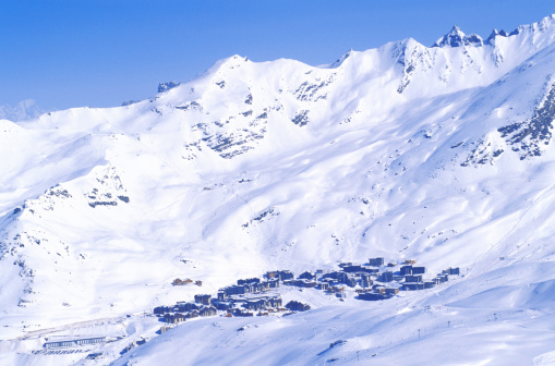 Val Thorens「Ski resort of Val Thorens in Savoie, France」:スマホ壁紙(9)