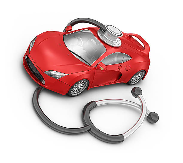 red supercar and medical stethoscope:スマホ壁紙(壁紙.com)