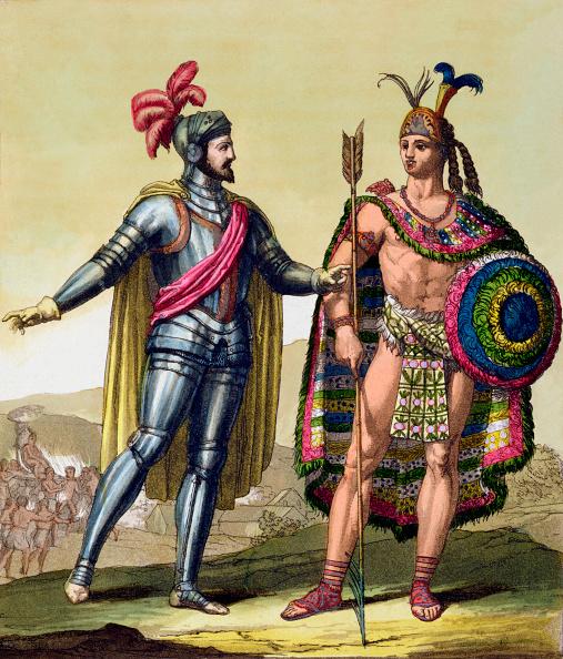 Mexico「The Encounter Between Hernando Cortes And Montezuma II Mexico 1519 (circa 1820-1839)」:写真・画像(5)[壁紙.com]