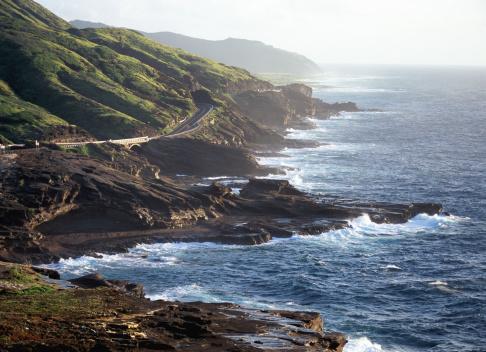 オアフ島「Highway along coast」:スマホ壁紙(1)