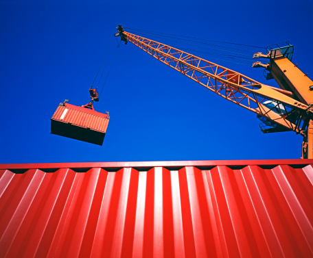 Crane - Construction Machinery「Containers」:スマホ壁紙(2)