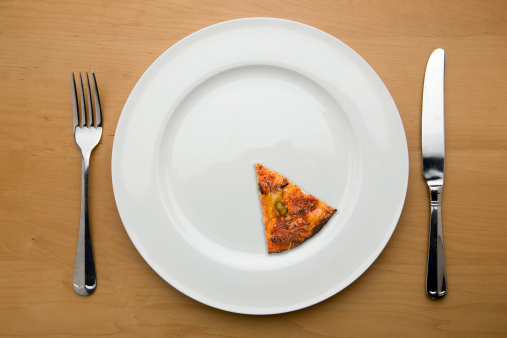 Anorexia Nervosa「Slimmers portion of a pizza on a plate」:スマホ壁紙(7)
