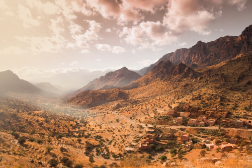 Atlas Mountains「Atlas mountains with town in Morocco.」:スマホ壁紙(0)