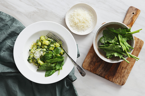 Spinach「Gnocchi with spinach and parmesan」:スマホ壁紙(16)