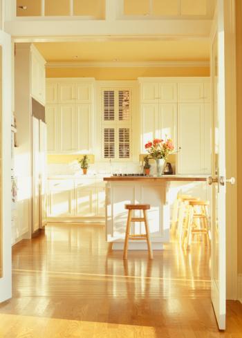 Stool「View of empty modern kitchen」:スマホ壁紙(7)