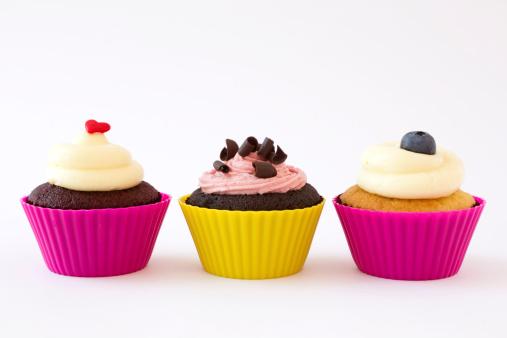 チョコレート「カップケーキ」:スマホ壁紙(15)