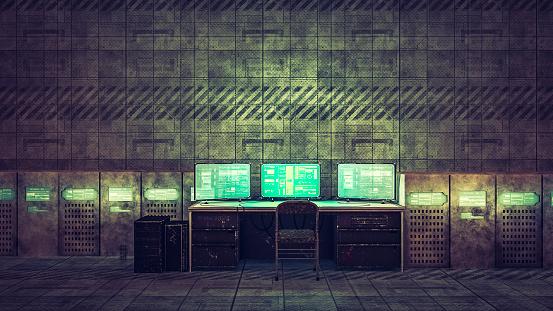 Basement「Hacker room in old warehouse」:スマホ壁紙(17)