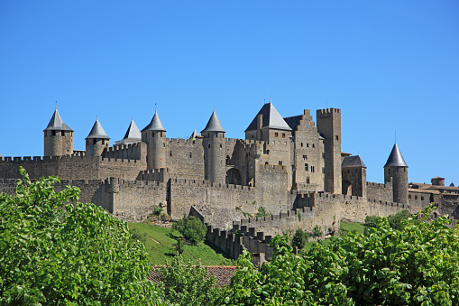 Fortified Wall「Historic Fortification City of Carcassonne, UNESCO World Heritage Site,  Languedoc-Roussillon, France」:スマホ壁紙(19)
