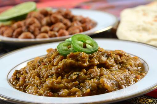 Vegetable Curry「Baingan Bhartha and Chana Masala」:スマホ壁紙(13)