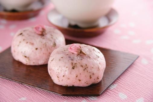 Wagashi「Cherry blossom cake」:スマホ壁紙(3)