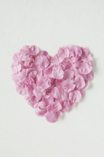 桜「Cherry blossom petals in heart shape」:スマホ壁紙(6)