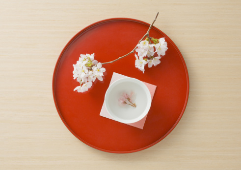 Tray「Cherry blossom tea」:スマホ壁紙(19)