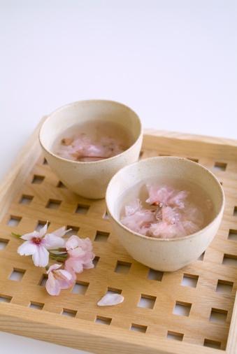 桜「Cherry blossom tea」:スマホ壁紙(15)