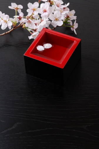 Sake「Cherry blossoms and sake」:スマホ壁紙(3)