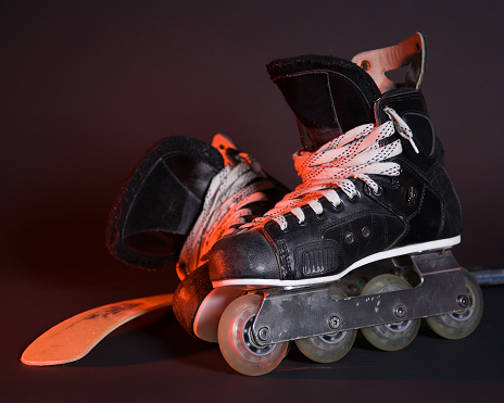 Roller skate「Roller Hockey Skates and Stick」:スマホ壁紙(19)