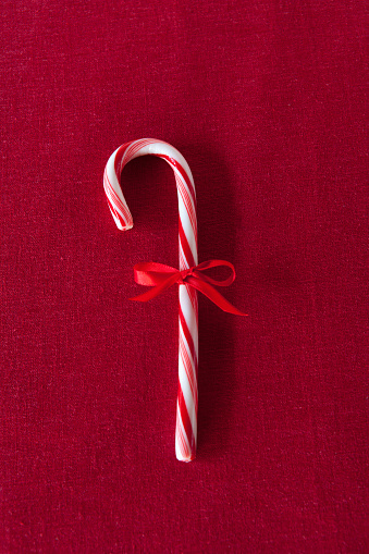 Candy Cane「Candy cane with red bow」:スマホ壁紙(2)