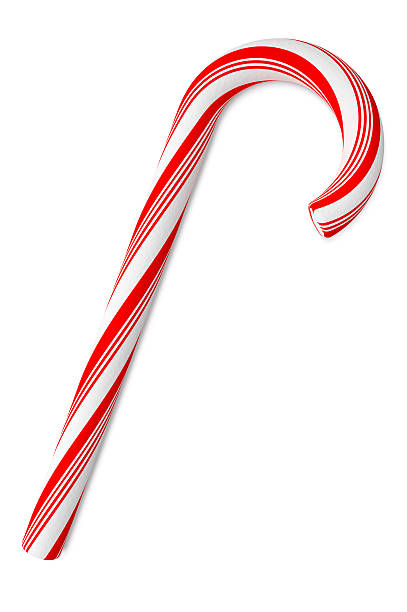 Candy Cane on White Background, with Clipping Path (XXXL):スマホ壁紙(壁紙.com)
