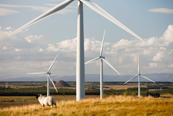 Wind Turbine「Black Law wind farm near Carluke in Scotland, UK. When it was constructed it was the largest wind farm in the UK with 54 turbines with a capacity of 97 Megawatts, enough to power 70,000 homes. The wind farm was built on the site of an old open cast coal」:写真・画像(18)[壁紙.com]