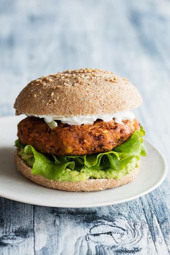 Veggie Burger「Bean and corn veggie burger」:スマホ壁紙(2)