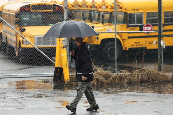 School Bus「New York City School Bus Drivers Strike For Better Job Protection」:写真・画像(6)[壁紙.com]