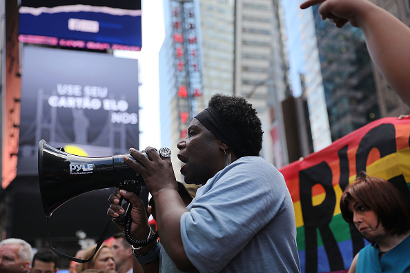 Forbidden「Anti-Trump Protesters Demonstrate In Times Square Against Trump Announcement Of Banning LGBT Service Members」:写真・画像(4)[壁紙.com]