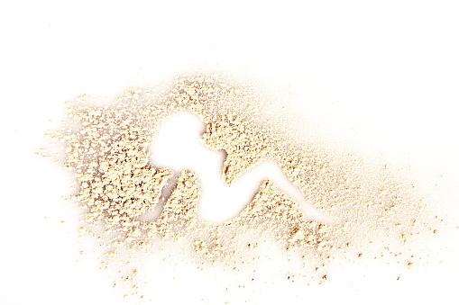 ファッション・コスメ「Classic mud flap woman silhouette created with face powder makeup」:スマホ壁紙(6)