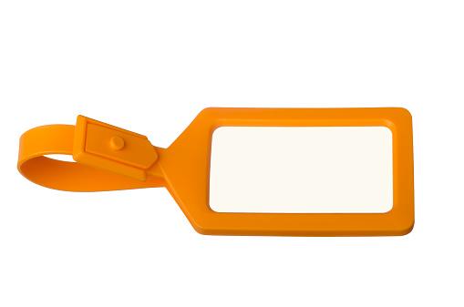Strap「Orange luggage tag with copy space」:スマホ壁紙(2)