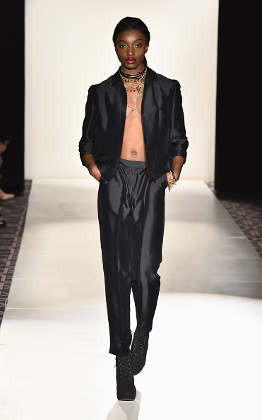 Satin Pants「Accessories Premier - Runway - Mercedes-Benz Fashion Week Fall 2015」:写真・画像(1)[壁紙.com]