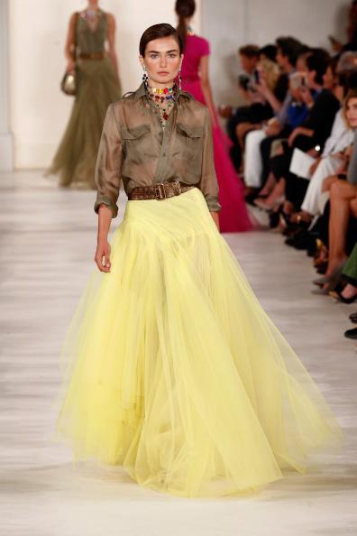 Tulle Netting「Ralph Lauren - Runway - Mercedes-Benz Fashion Week Spring 2015」:写真・画像(5)[壁紙.com]