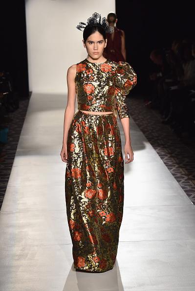 Metallic Dress「Designers' Collective - Runway - Mercedes-Benz Fashion Week Fall 2015」:写真・画像(16)[壁紙.com]