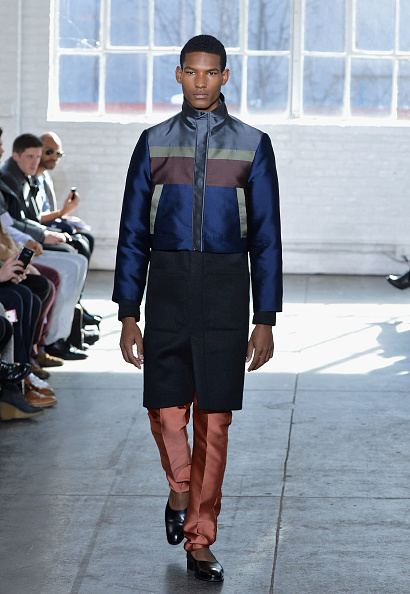 Satin Pants「Duckie Brown - Runway - Mercedes-Benz Fashion Week Fall 2014」:写真・画像(13)[壁紙.com]